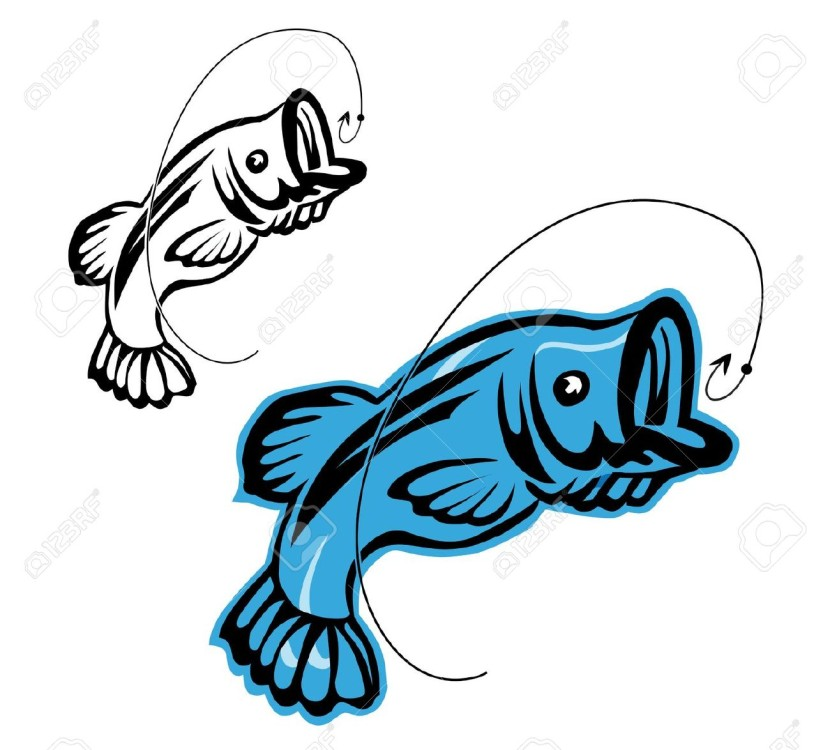 Bass Fishing Stock Vector Illustration And Royalty Free Bass