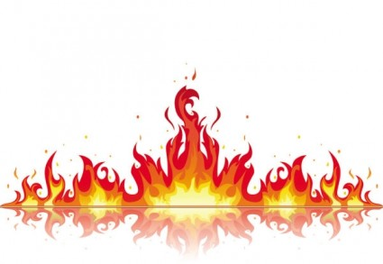 Beautiful Flame Vector Clip Free Vector In Encapsulated