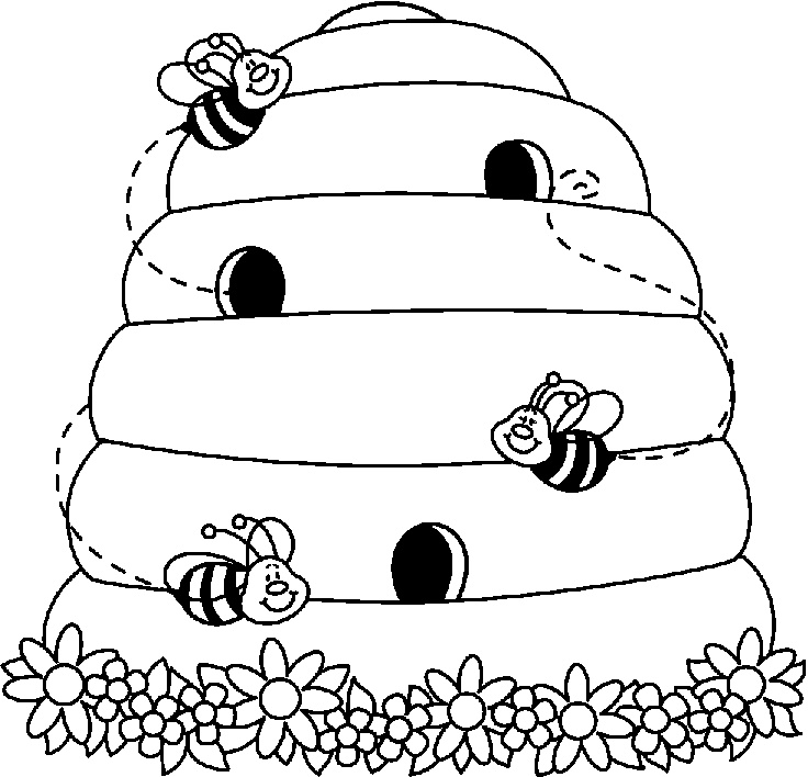Beehive Clipart Bees