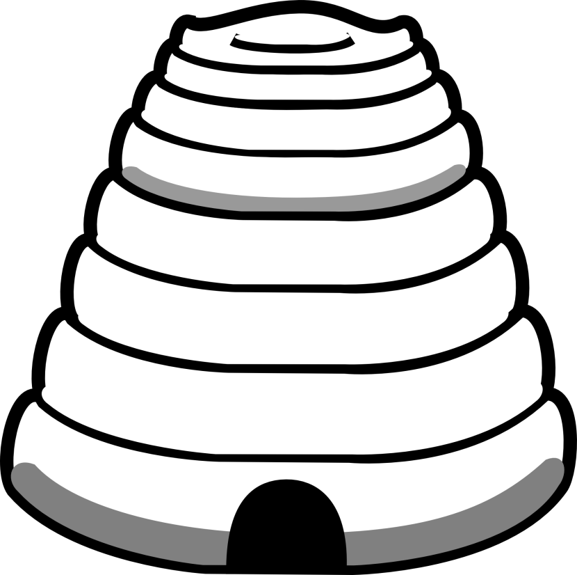 Beehive Clipart Black And White Free Clipart Images