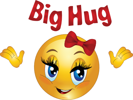 Big Friendship Hug Clipart