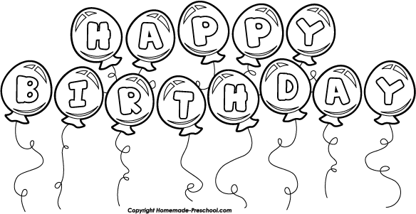 Birthday Balloon Bunch White Bw Png