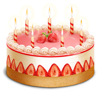 Birthday Cake Clip Art Strawberry Cream Candles Just Free