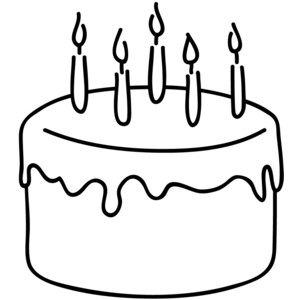 Birthday Cake Clipart Black And White Gallery