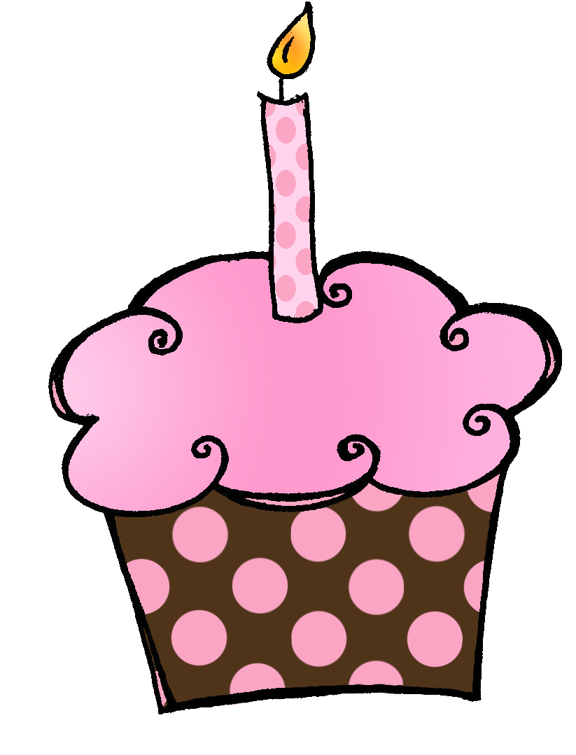 Birthday Cupcake Clip Art Free Clipart Images