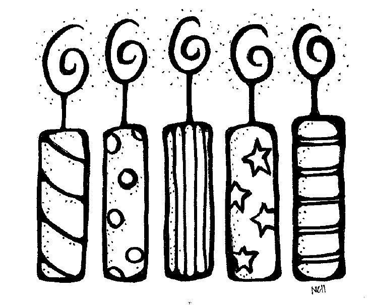 Birthday Party Clip Art Black And White Cute Photo Download Free
