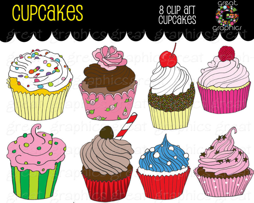 Birthday Party Cupcake Clipart Printable Birthdaygreatgraphics