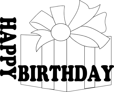 Birthday Present Clip Art Black And White Download Free Birthday