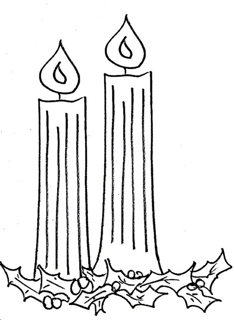 Black And White Advent Clip Art 2