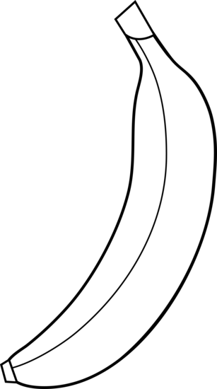 Black And White Banana Clipart Free Clipart Images