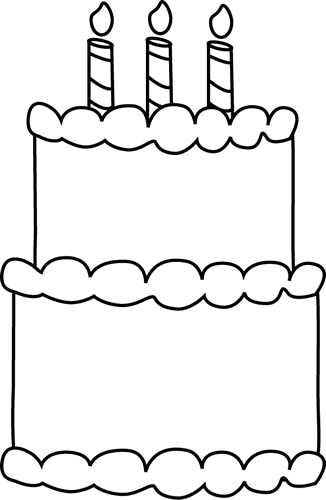 Black And White Birthday Cake Clip Art Black And White Birthday