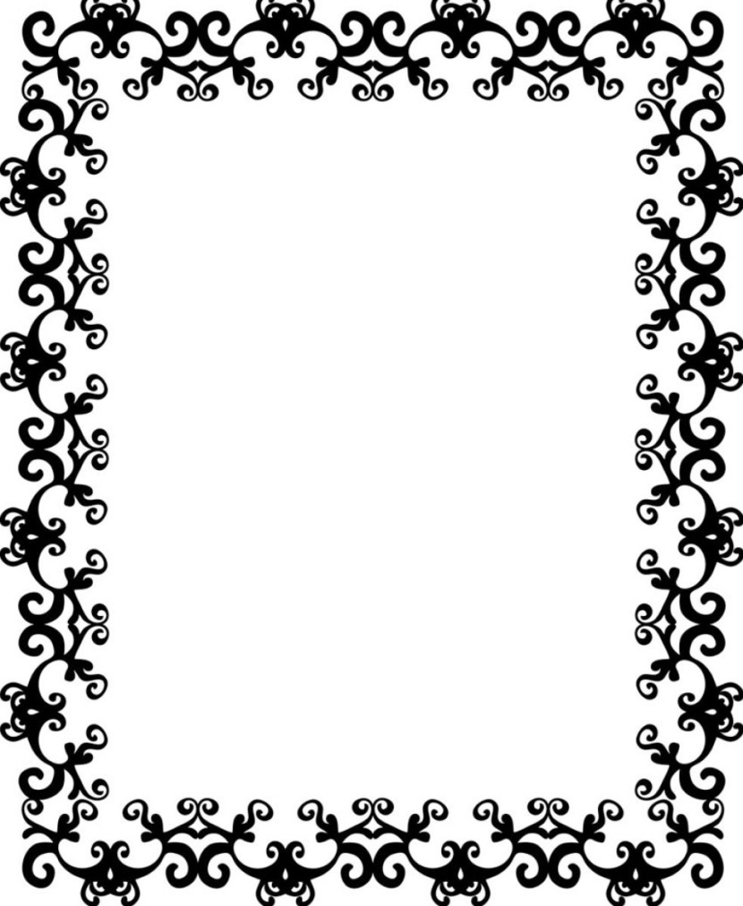 Black And White Border Clip Art