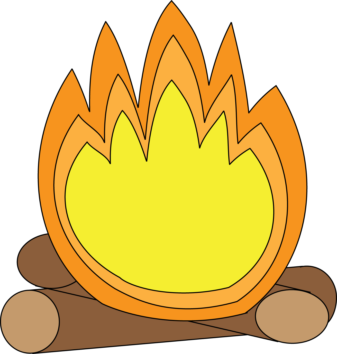 Black And White Campfire Clipart Free Clipart Images
