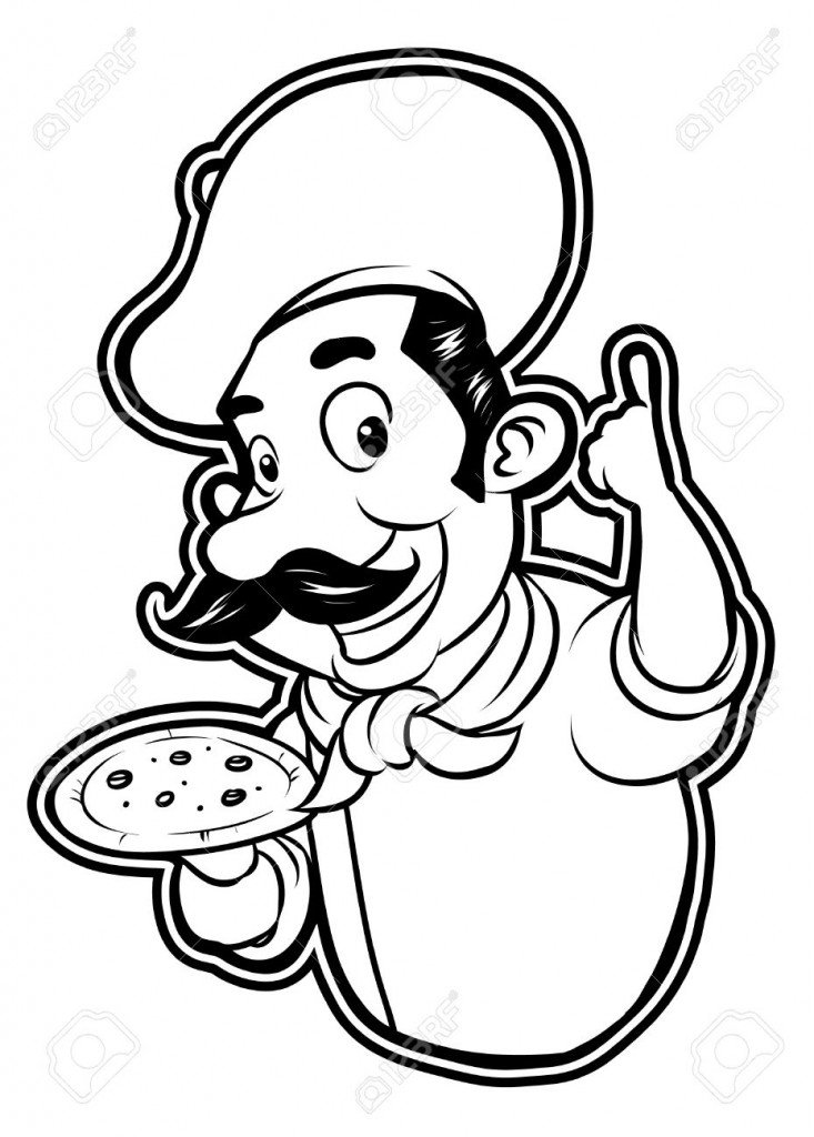Black And White Clipart Pizza Chef Royalty Free Cliparts Vectors