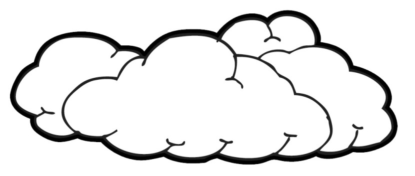 Black And White Cloud Clipart
