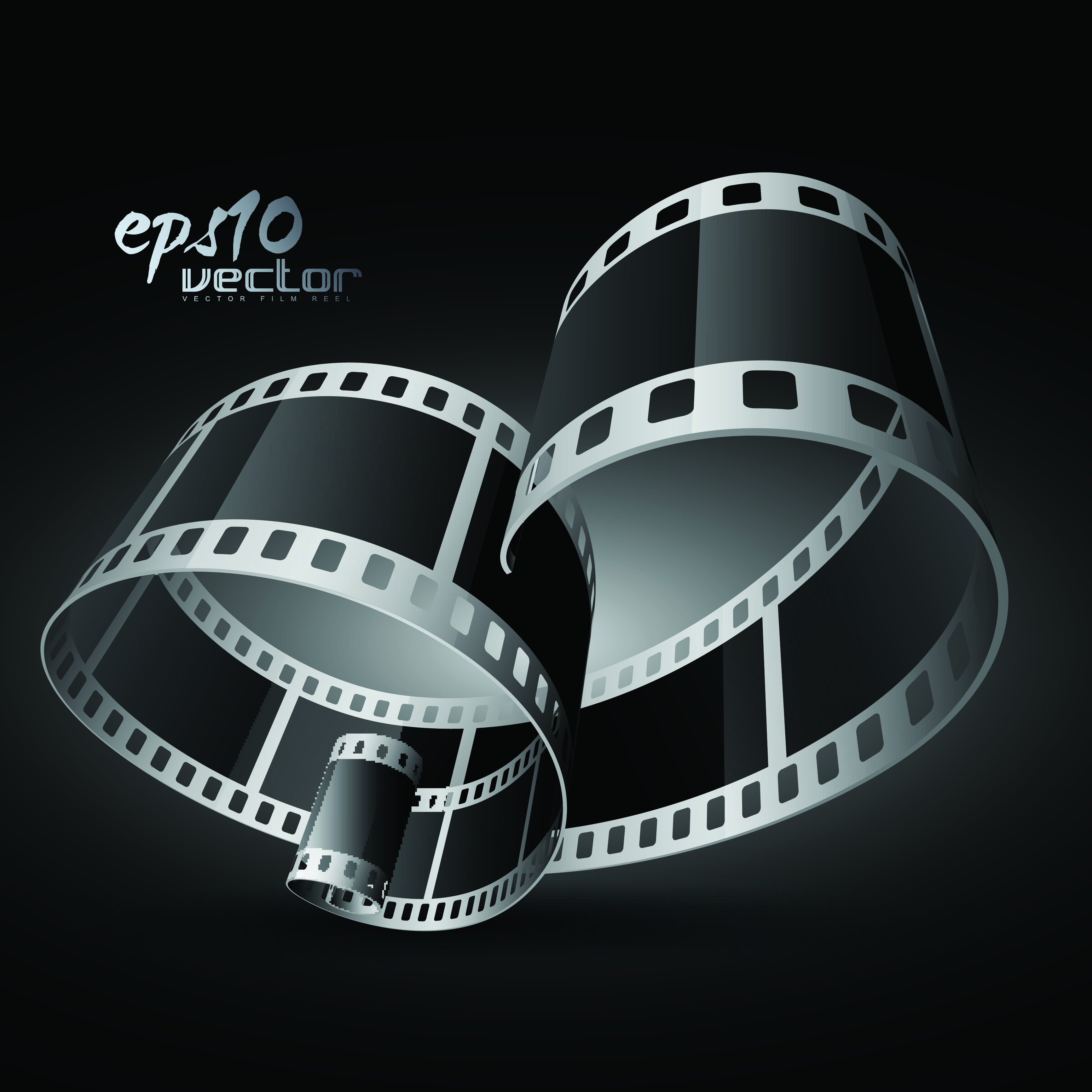 Black And White Film Clip Art 3d 1 Free Vector 4vector