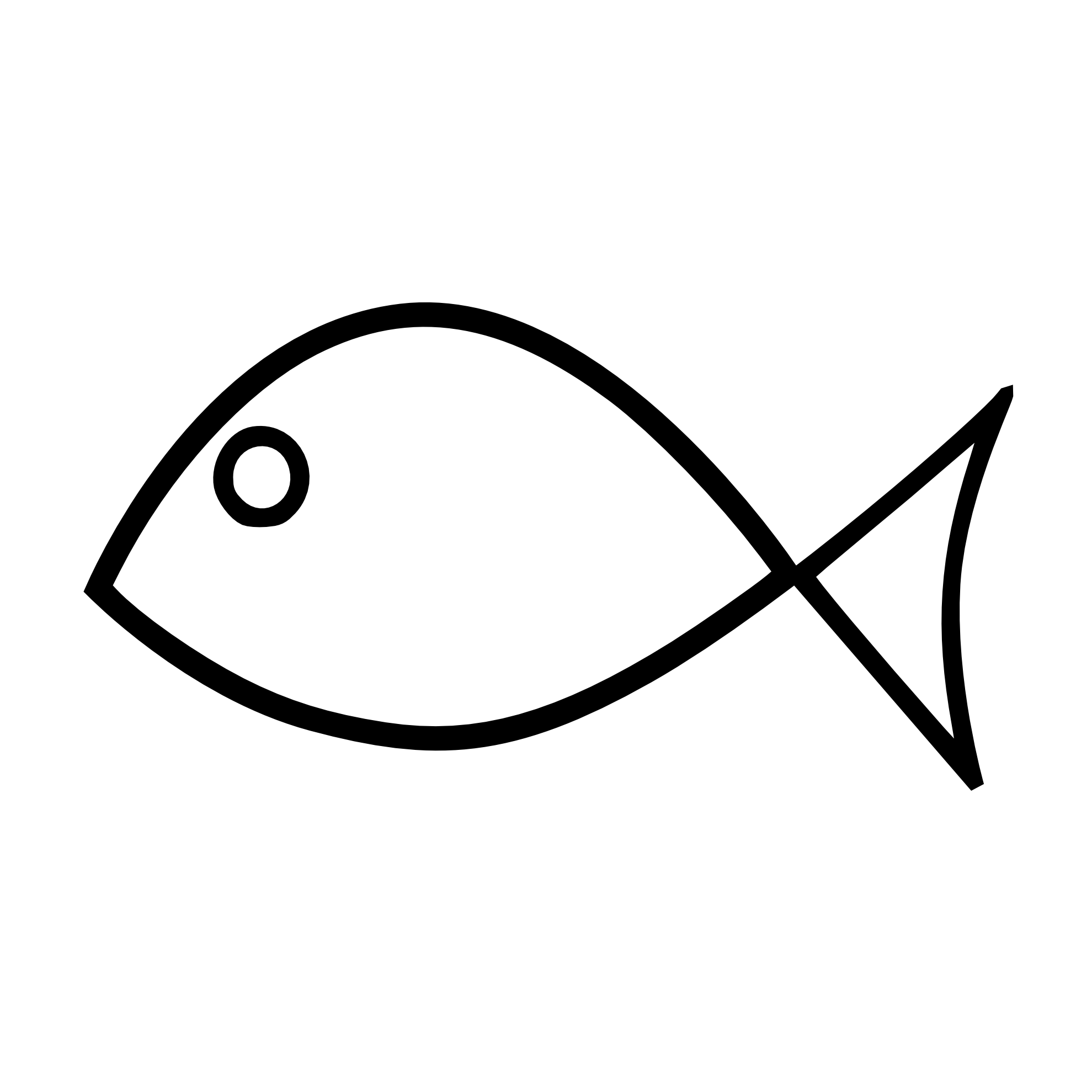 black and white fish outline