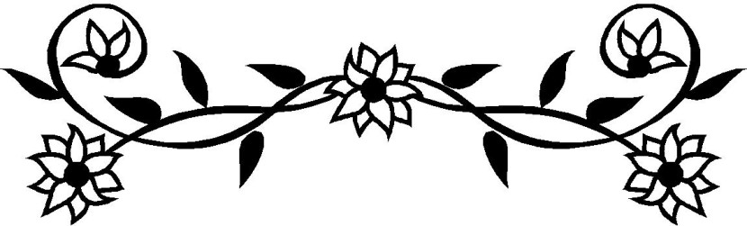 Black And White Flower Border Clipart Free