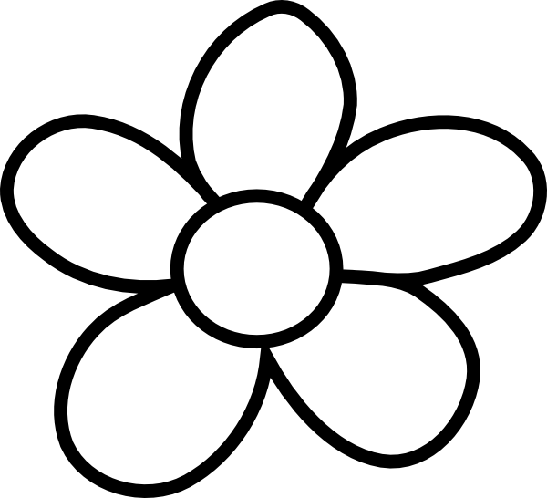 Black And White Flower Clip Art Clipart Free