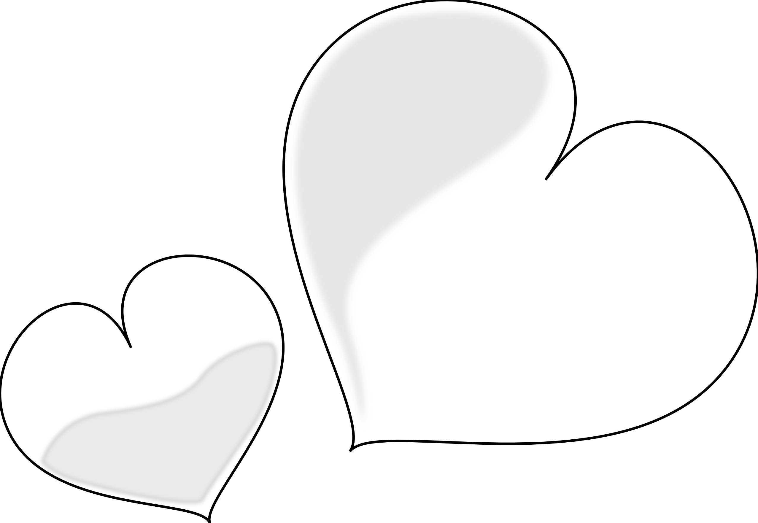 Best Black And White Heart Clipart #20643 - Clipartion.com