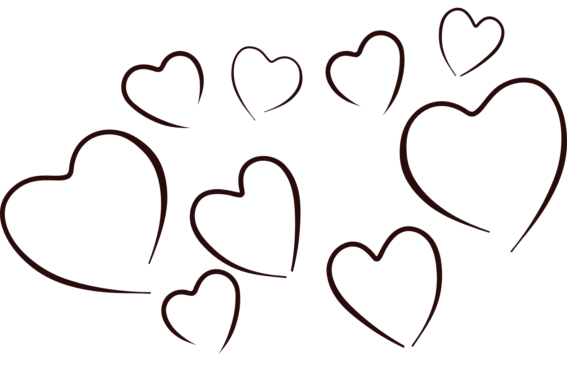 Best Black And White Heart Clipart #20623 - Clipartion.com