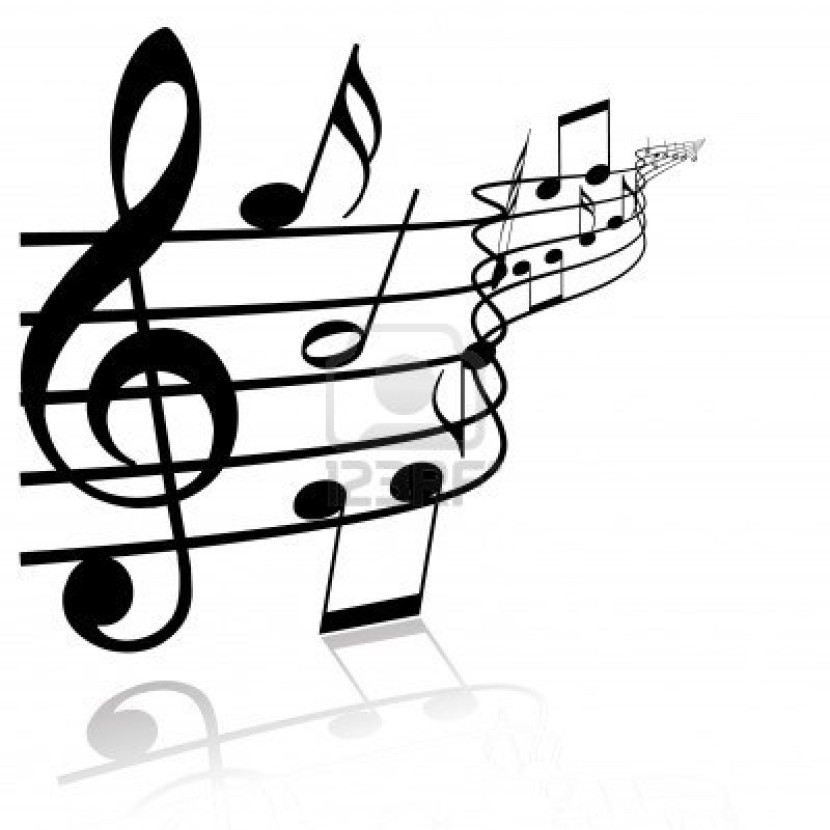Best Black And White Music Notes #9926 - Clipartion.com