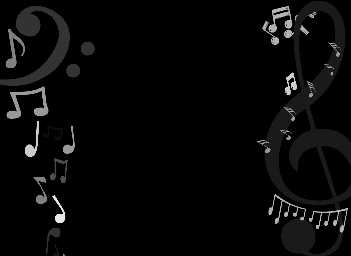 Best Black And White Music Notes #9919 - Clipartion.com
