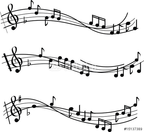 Black And White Musical Notes Illustrated Chords Quot Stock Image And