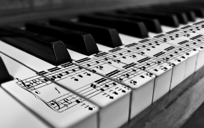 Black And White Piano Music Notes Wallpaper Id 9 Download