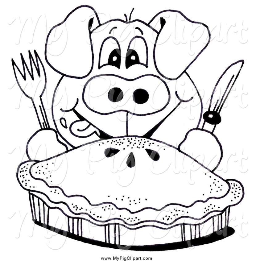 Black And White Pie Clip Art