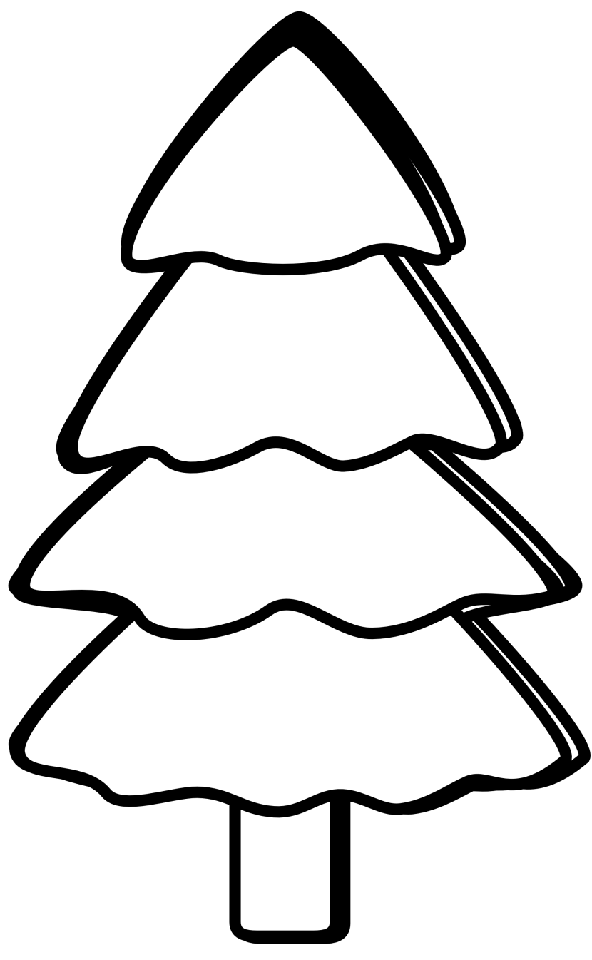 Black And White Pine Tree Clipart Free Clipart