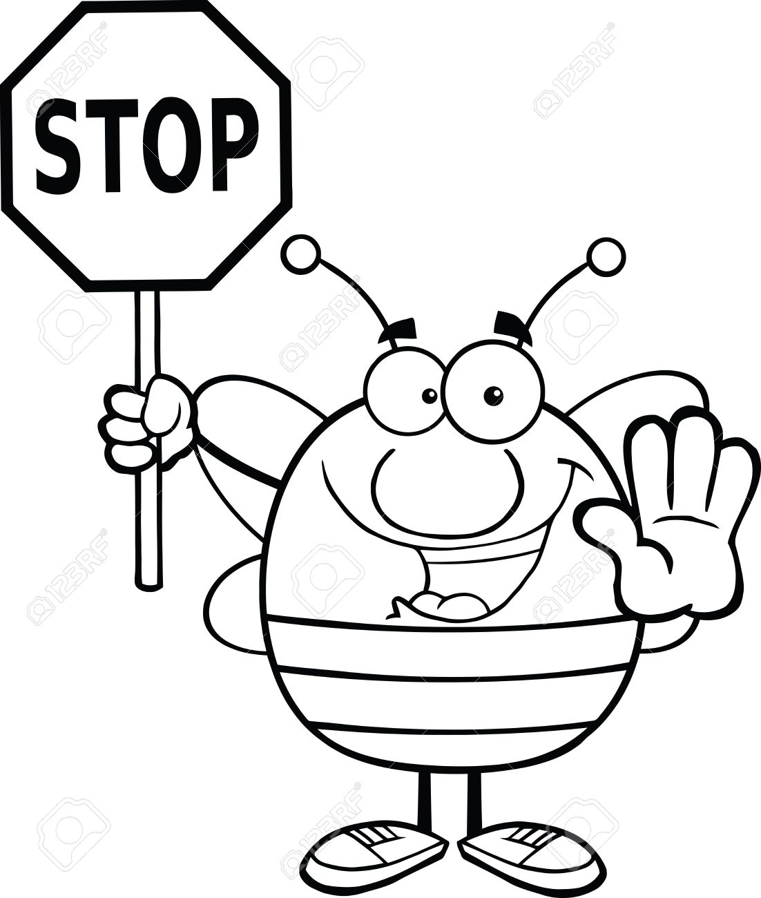 Best Stop Sign Black And White #13935 - Clipartion.com for Stop Sign Clipart Black And White  58lpg