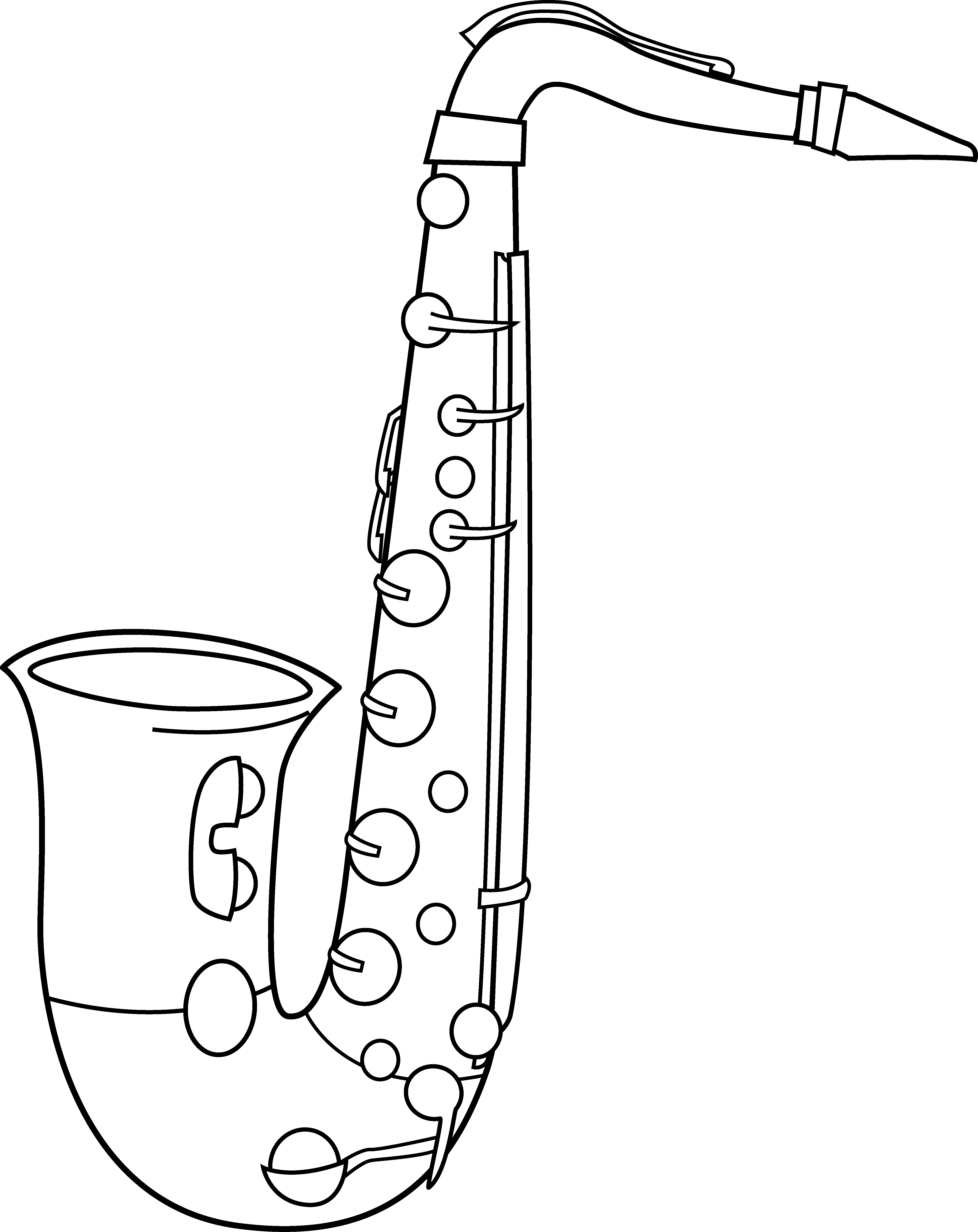 Saxophone clipart for Free online drawing