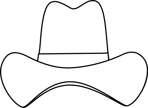 Black And White Simple Cowboy Hat Clip Art Black And White