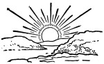 Black And White Sun Clip Art Sunrise Clipart Solar