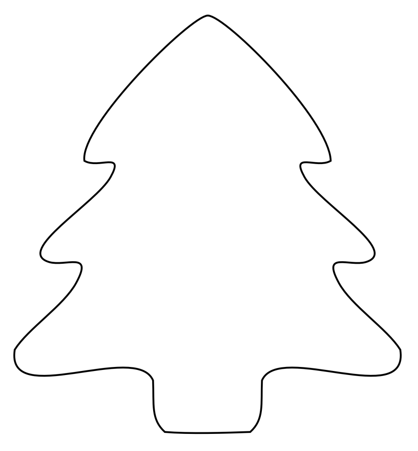 christmas tree clipart black and white photo 39 - Christmas Tree Clipart Black And White