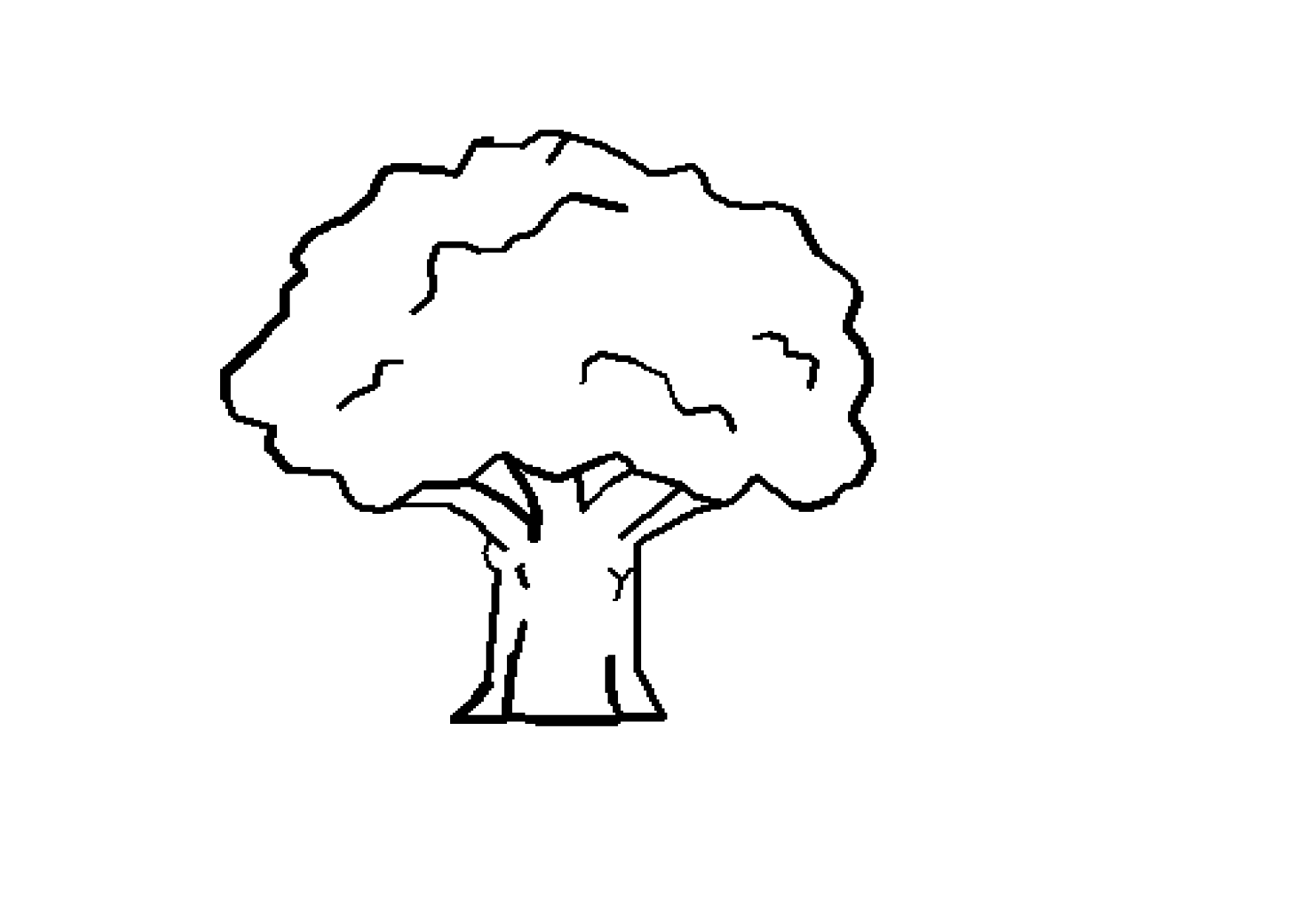 Black And White Tree Clipart Wallpaper
