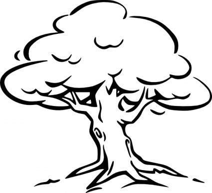 Black And White Trees Clipart