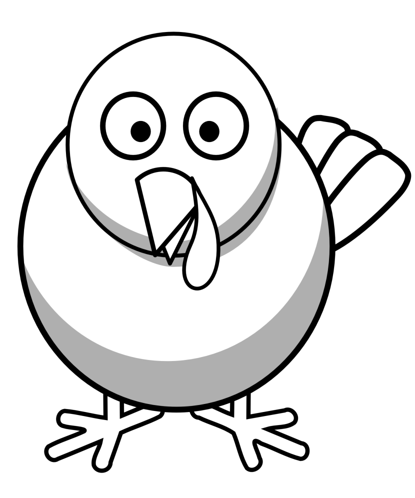 Black And White Turkey Clipart