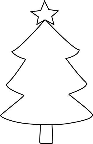 Black Christmas Trees Black And White Christmas Tree Clip Art