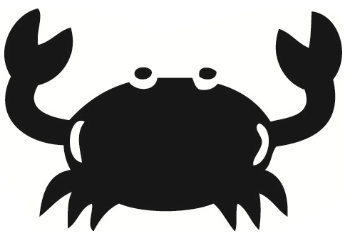 Black Pinching Crab Animal Designs Crabs Clipart Free Clip Art