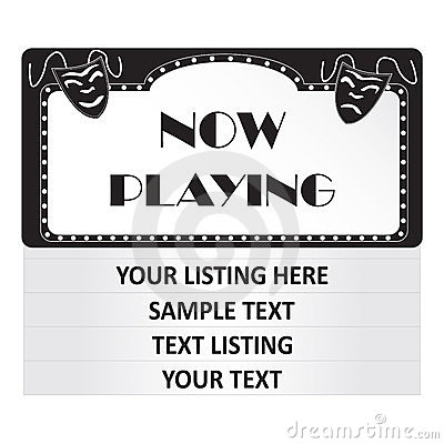 Blank Movie Theater Sign Shining Yellow Cinema Clipart Free Clip