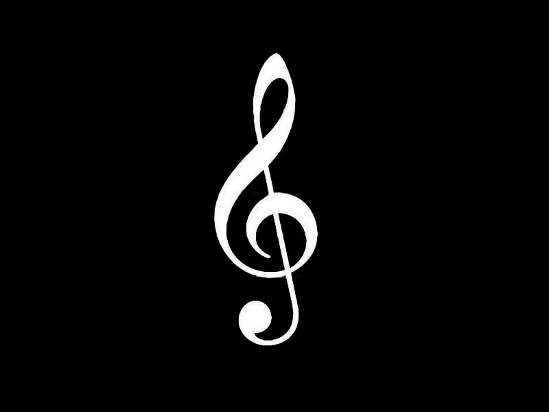 Blck And White Music Notes