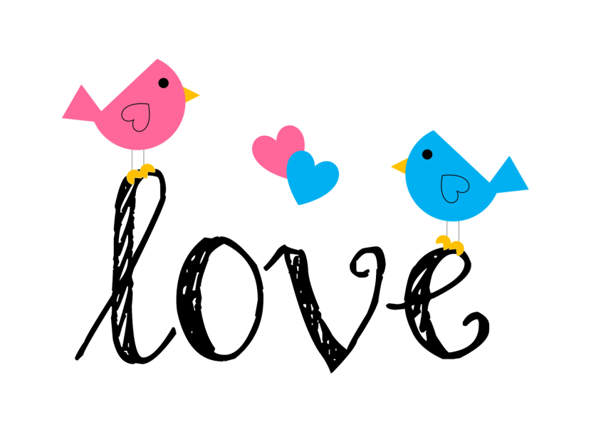 Blogger Png Love Birds Printable Artpapercharmpng Clipart