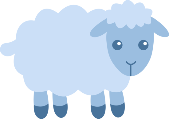 Blue Baby Lamb Clipart Free Clip Art Images