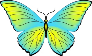 Blue Butterfly Clipart Free Clipart Images
