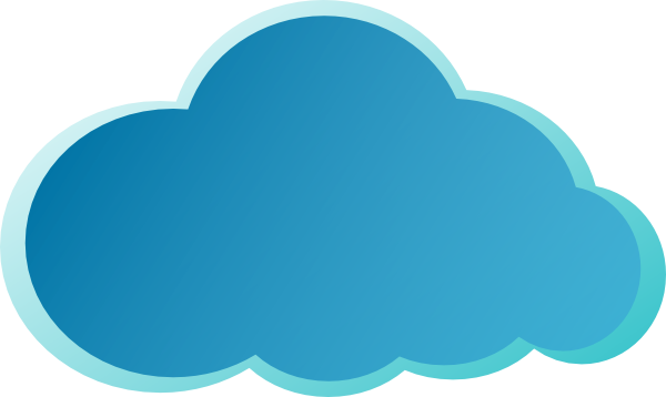 Blue Cloud Clip Art At Vector Clip Art Online Royalty