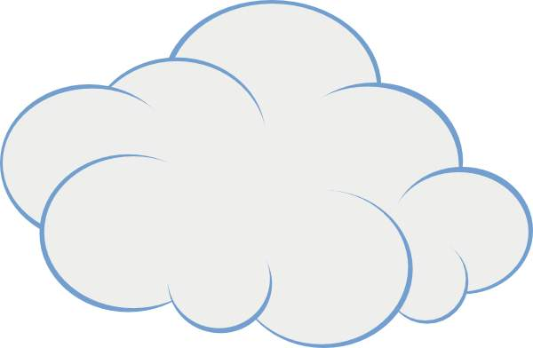 Blue Cloud Clip Art Home Improvement Gallery