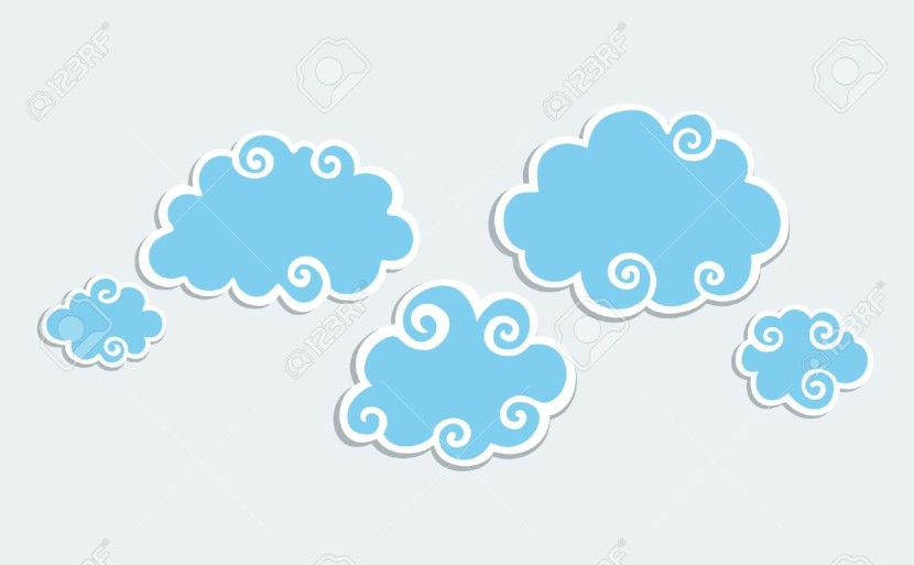 Blue Clouds With White Border Royalty Free Cliparts Vectors And
