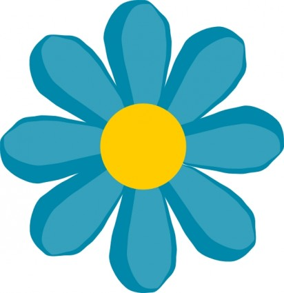 Blue Flower Clip Art Free Vector In Open Office Drawing